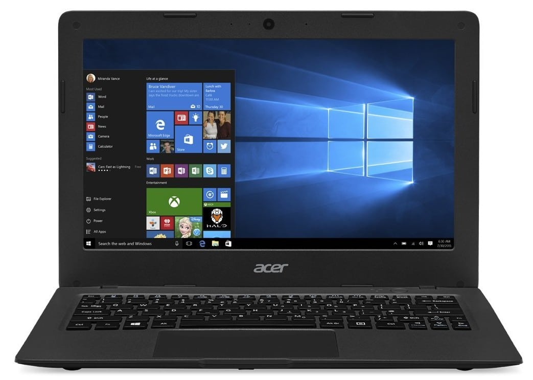 Acer Aspire laptop under 200 pounds UK