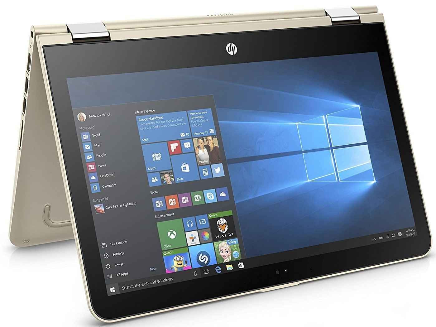 HP Pavilion x360 best laptop under 600 pounds UK