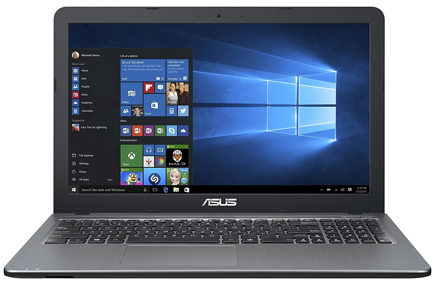 ASUS VivoBook X540SA laptop under 300 pounds uk