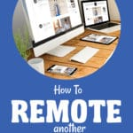 How to remote another computer