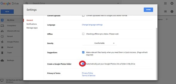 Google Photos in Google Drive