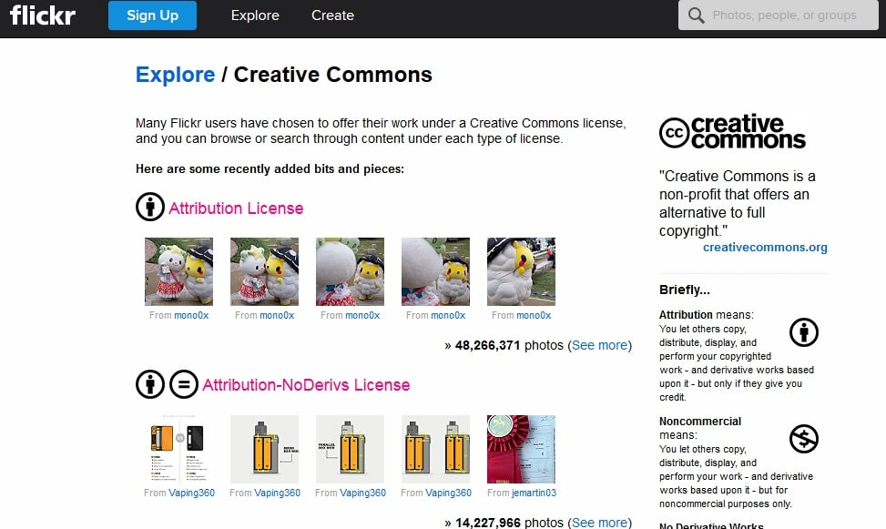 Flickr-Creative-Commons free site images