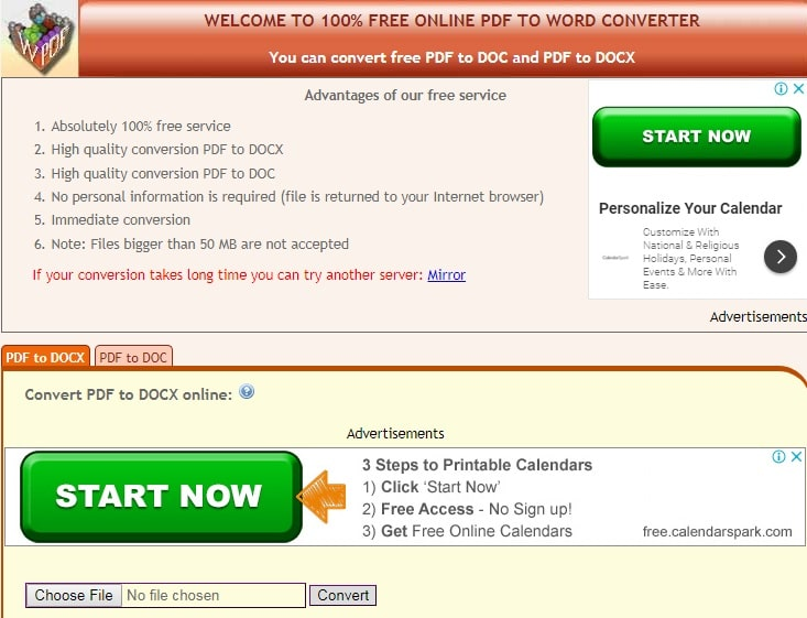 Convert online free PDF to Word
