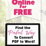 How to Convert PDF to Word Online FREE #tip #guide #tech #convert #PDF #Word #online #internet #DOC