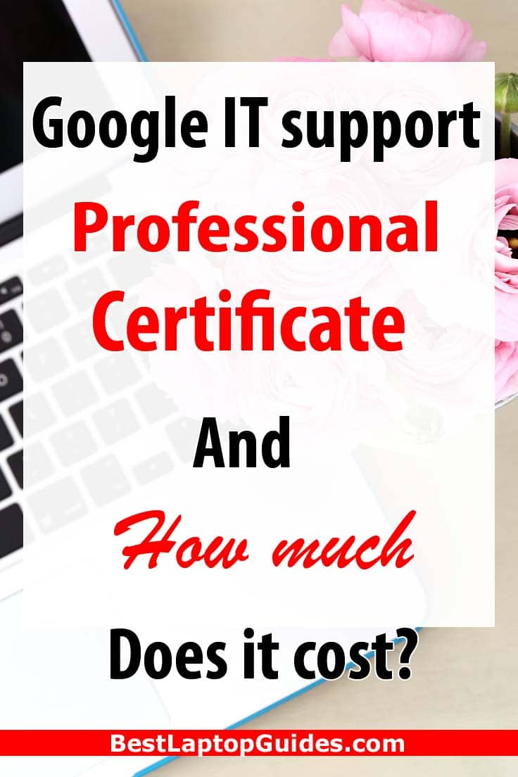 Google IT support professional certificate and how much does it cost